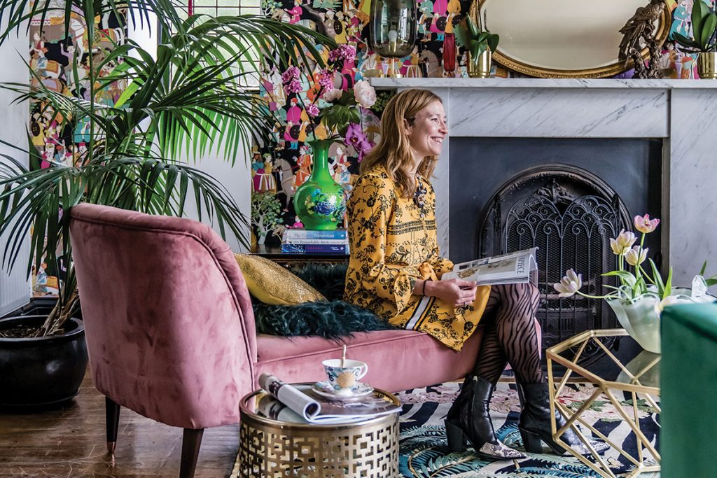 wendy-morrison-in-her-colourful-living-room