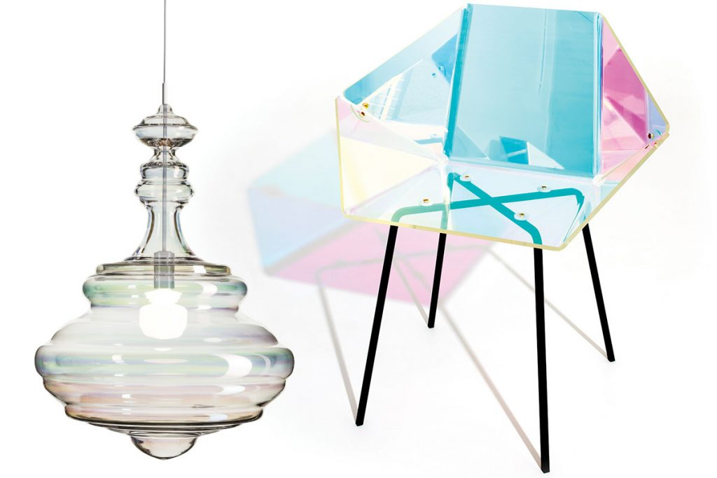 holographic-chair-and-iridescent-light