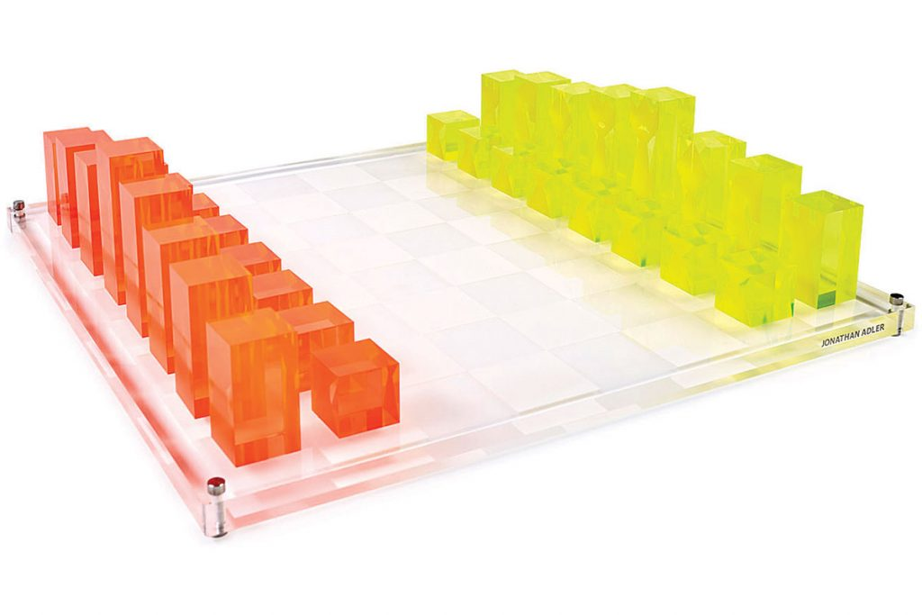 Essentials-neon-page-43-Acrylic-chess-set-by-Jonathan-Adler-