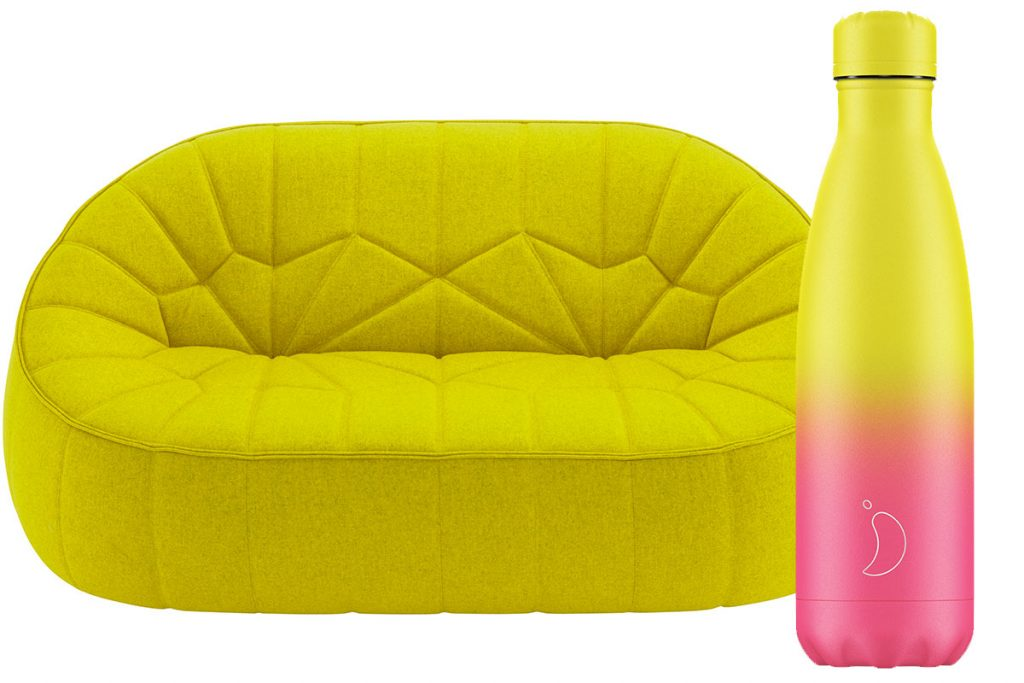 ligne-roset-sofa-and-chillies-water-bottle