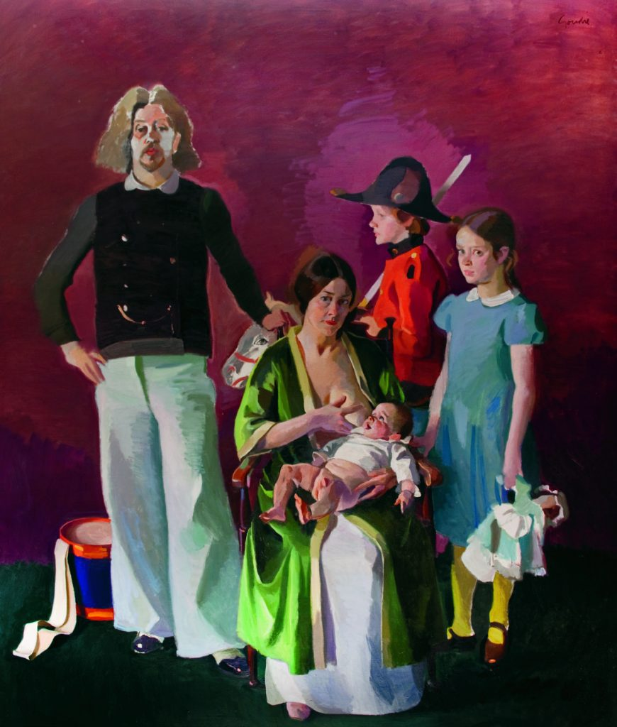 portrait of Lachlan goudie Artist and his family