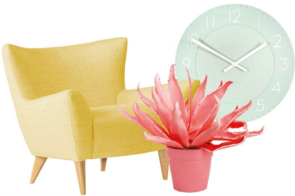 1pastel-yellow-chair-mint-clock-and-pink-faux-plant.jpg