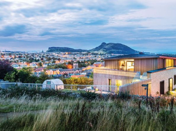 An upside down and ultra-efficient new-build with unbelievable views over Edinburgh