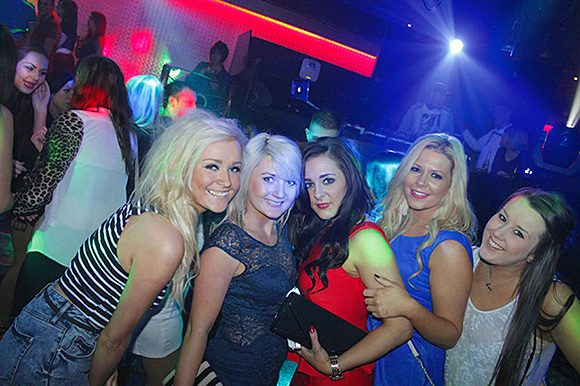 Young adults know how to party, but even this group in Ayr's Club de Mar is looking for best value on a night out.