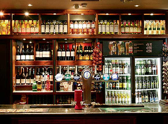 Easy on the eye: a back-bar should be designed to look as appealing as possible.