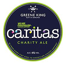 GREENE King has launched limited edition blonde ale Caritas to help raise funds for Macmillan Cancer Support.