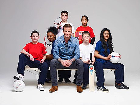 DAVID Beckham has joined forces with Sky as part of a new initiative to support grassroots sport across Britain.