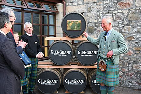 PRINCE Charles was in Speyside last week to open a new bottling hall at Glen Grant distillery.