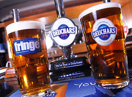 • Deuchars is the 'ale of the Fringe' this year.