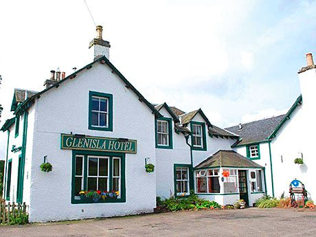 The Glenisla Hotel in Kirkton of Glenisla, Blairgowrie, comprises a bar, six double and twin en suite letting rooms and separate three-bedroom owner's accommodation.