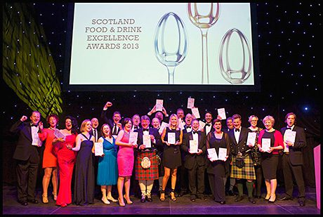 Winning ways: suppliers celebrate at the Scotland Food & Drink Excellence Awards 2013.
