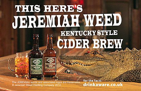 The 'Kentucky-style cider brew' descriptor aims to help consumers understand the brand.