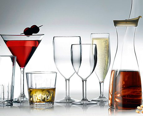 The Artis glasses and carafes.
