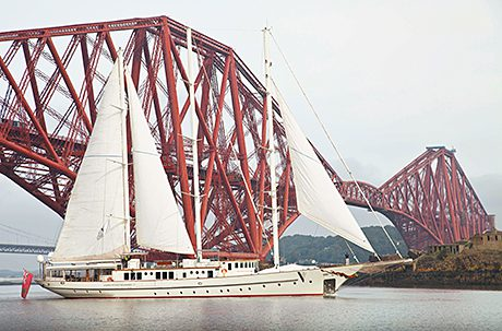 Voyager arrives in Scotland after promoting whisky on world tour.