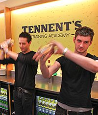 Students at the Tennent's Training Academy.