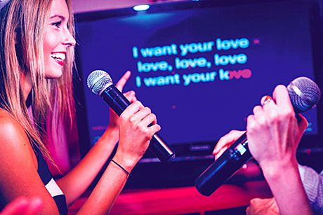 • Karaoke, live bands and jukeboxes can all add to the atmosphere in a venue.