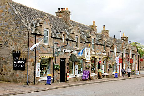 • The Whisky Castle is located in Tomintoul.