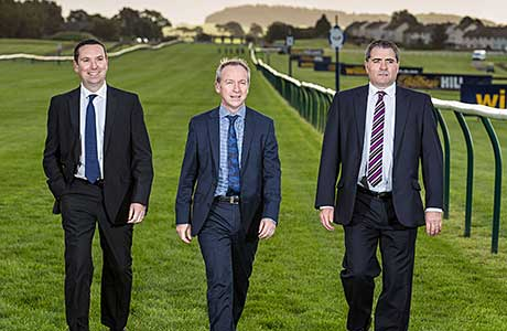On track: Ayr Racecourse.