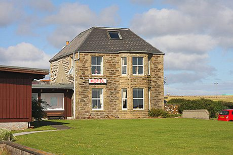 • On the market: the Baltasound Hotel on the island of Unst