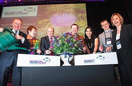 • In full bloom: Scotland's tourism industry is set for a boost this year.