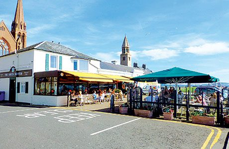The Green Shutters Restaurant and Cafe is said to have been trading in Largs for 100 years.