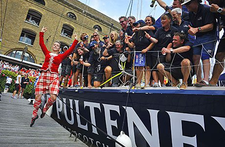 Old Pulteney yacht crew celebrate completing the Clipper 2013-14 Round The World Yacht Race.