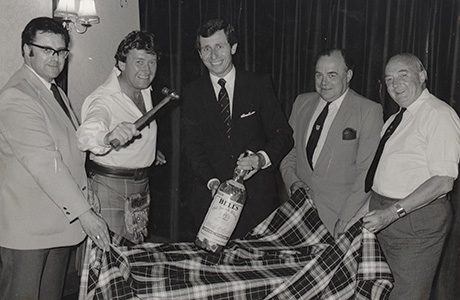 Changed days: Bob Taylor, centre, in the 1980s
