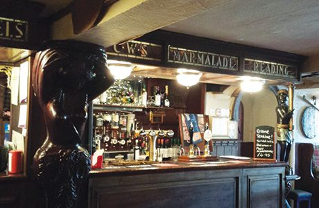 The bar at The Wigtown Ploughman Hotel.