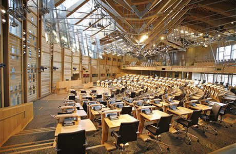 038_Scottish Parliament debating chamber