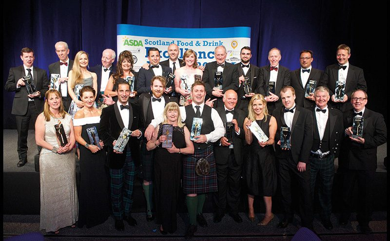 • The winners at this year's Scotland Food & Drink Excellence Awards with their trophies.