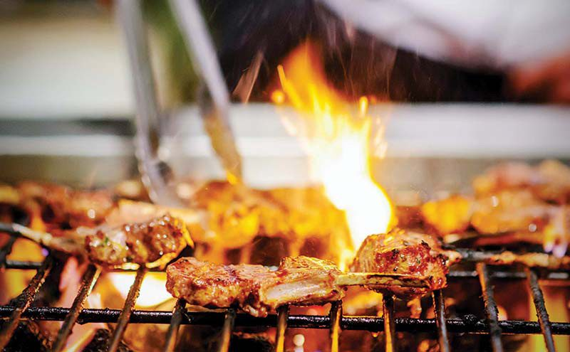 shutterstock_food on barbecue