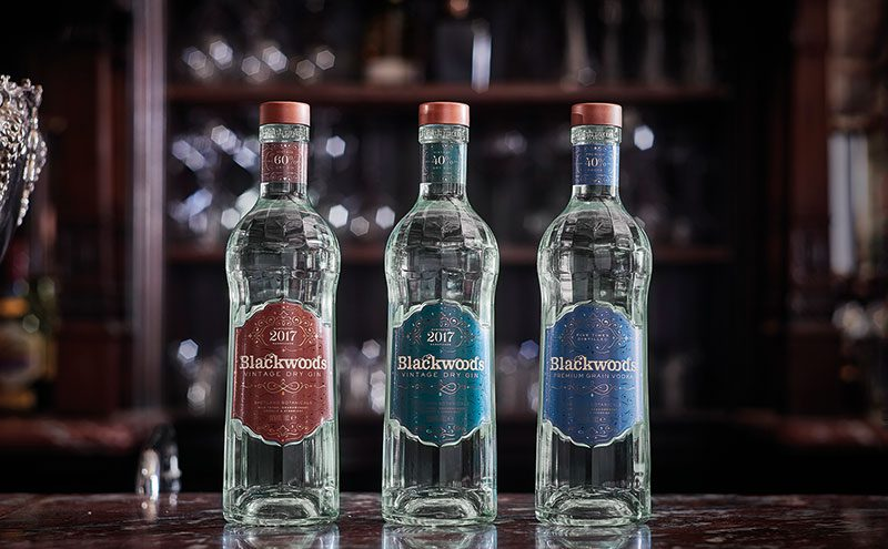 Blackwoods vodka and gins have a new-look bottle inspired by the roaring 1920s.