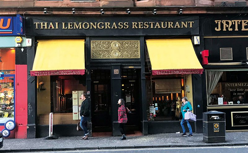 Thai Lemongrass is on Renfrew Street.