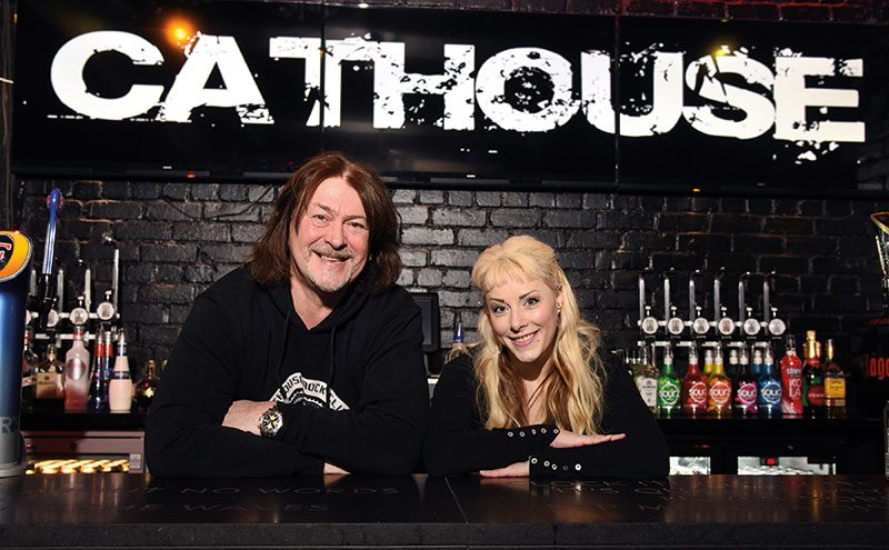 Pastures new: Kirsty Smith with Cathouse owner Donald MacLeod.