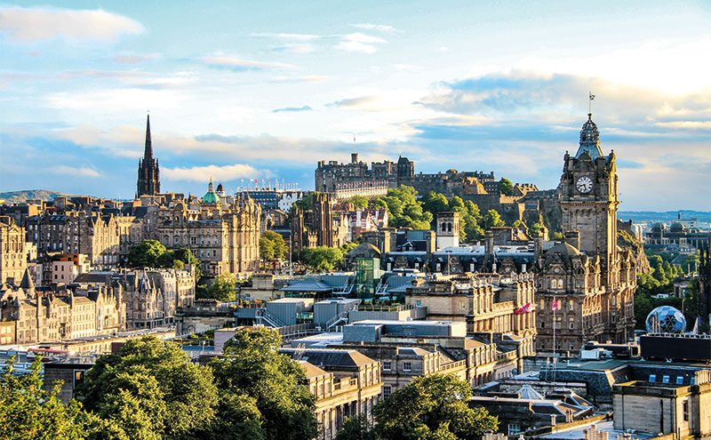 Edinburgh's continued popularity with visitors has seen hotel room prices rise consistently.