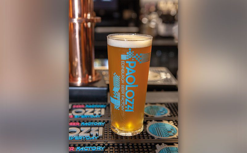The unfiltered lager is now on draught.