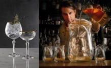 Man pouring in glasses