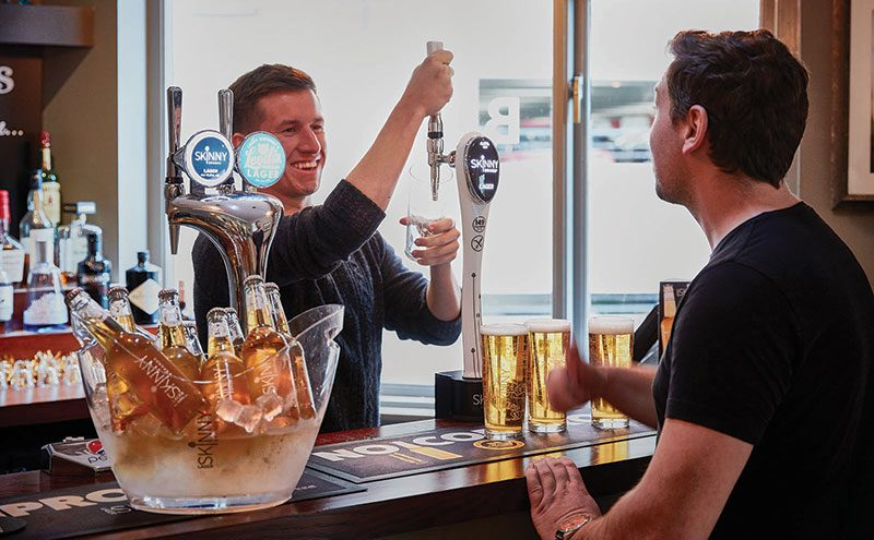 Skinny Brands is aiming to boost awareness of its low-calorie lager in licensed outlets