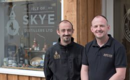 Alistair (left) and Thomas Wilson founded Isle of Skye Distillers in 2016