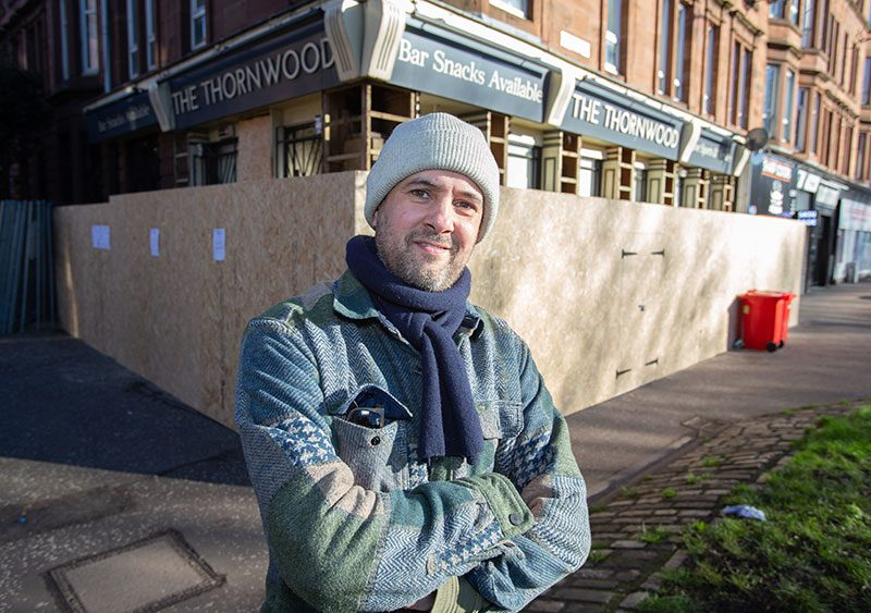 Marc Ferrier (above) has taken on the lease to The Thornwood in Glasgow