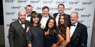 Stewart Grant (second left) of Star Pubs & Bars with some of the Scots Star Award winners