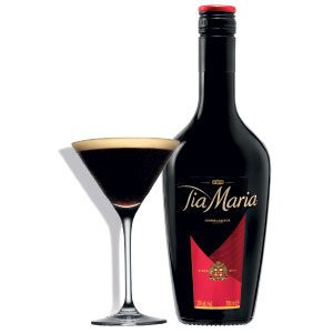 Tia Maria bottle and cocktail