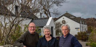 Eddie Spear, Shirley Spear and Gordon Campbell Gray