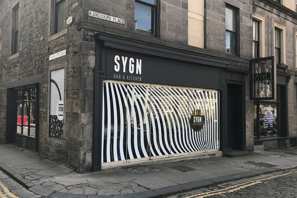 Sygn Bar in Edinburgh's west end