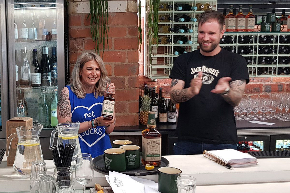 Amy-carmichael-winning-jack-daniels-competition-in-glasgow