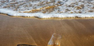 Whisky on a beach