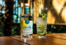 Union lemon and leaf rum