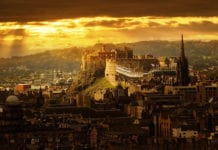 Edinburgh-castle-sunset