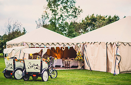 A B-spokes rickshaw would suit an eco-friendly summer wedding