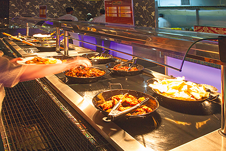 The world buffet selection at the Quay in Musselburgh